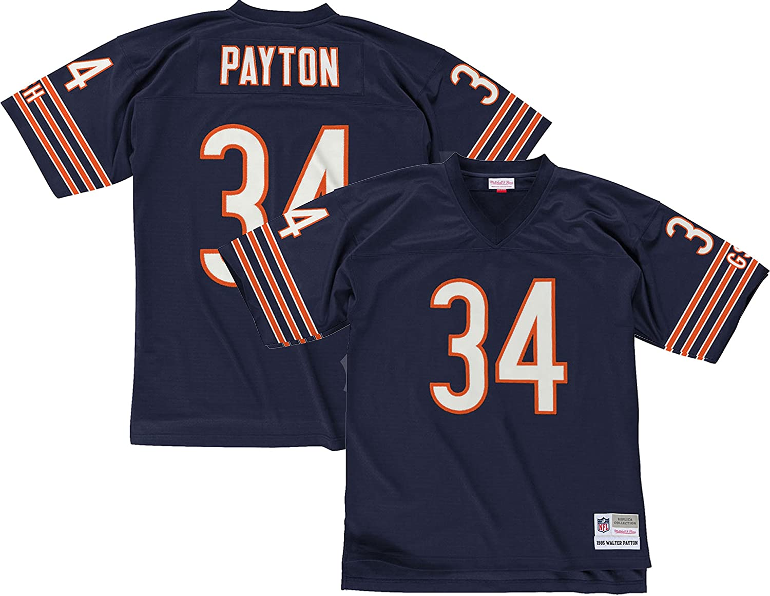 new arrival 88dce 5a16a Mitchell & Ness Walter Payton Chicago Bears Dark Navy Throwback Jersey