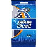 Gillette, Blu II, Set di rasoi usa e getta, 20 pz.