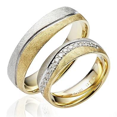 2 X 585 Gold Eheringe Partnerringe Trauringe Verlobungsringe In