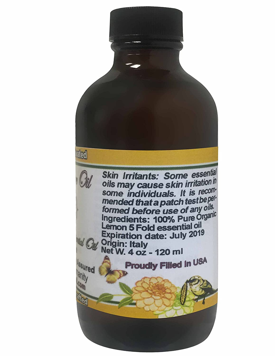 Lemon Essential Oil 4 oz 100% Pure Natural Organic Therapeutic Undiluted  Steam Distilled