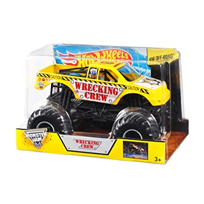 Hot Wheels Monster Jam Wrecking Crew Die-Cast Vehicle, 1:24 Scale: Toys & Games [5Bkhe1103072]