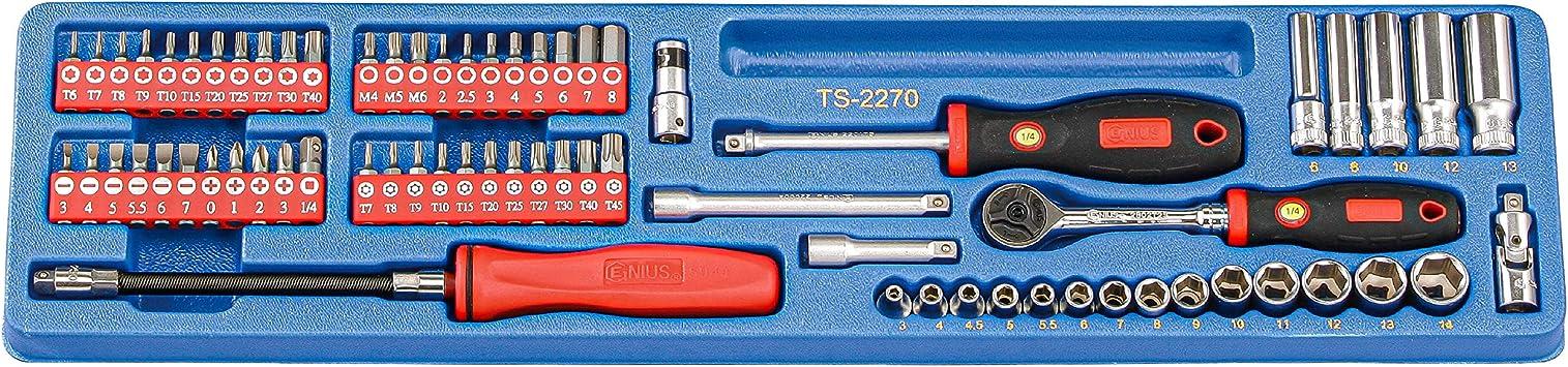 Genius Tools SB-711TP 11 Piece Star Screwdriver Bit Set