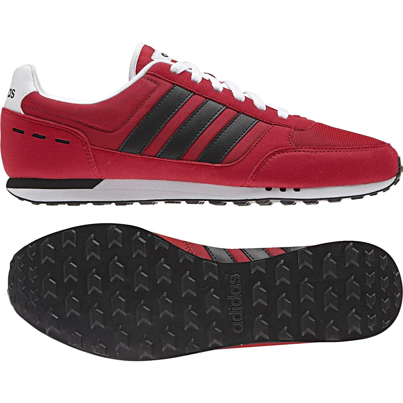 adidas Neo City Racer, Chaussures de Tennis Homme, Rouge