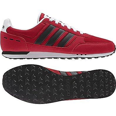 adidas Neo City Racer Herren Sneaker Schwarz Schuhe, Größe:44