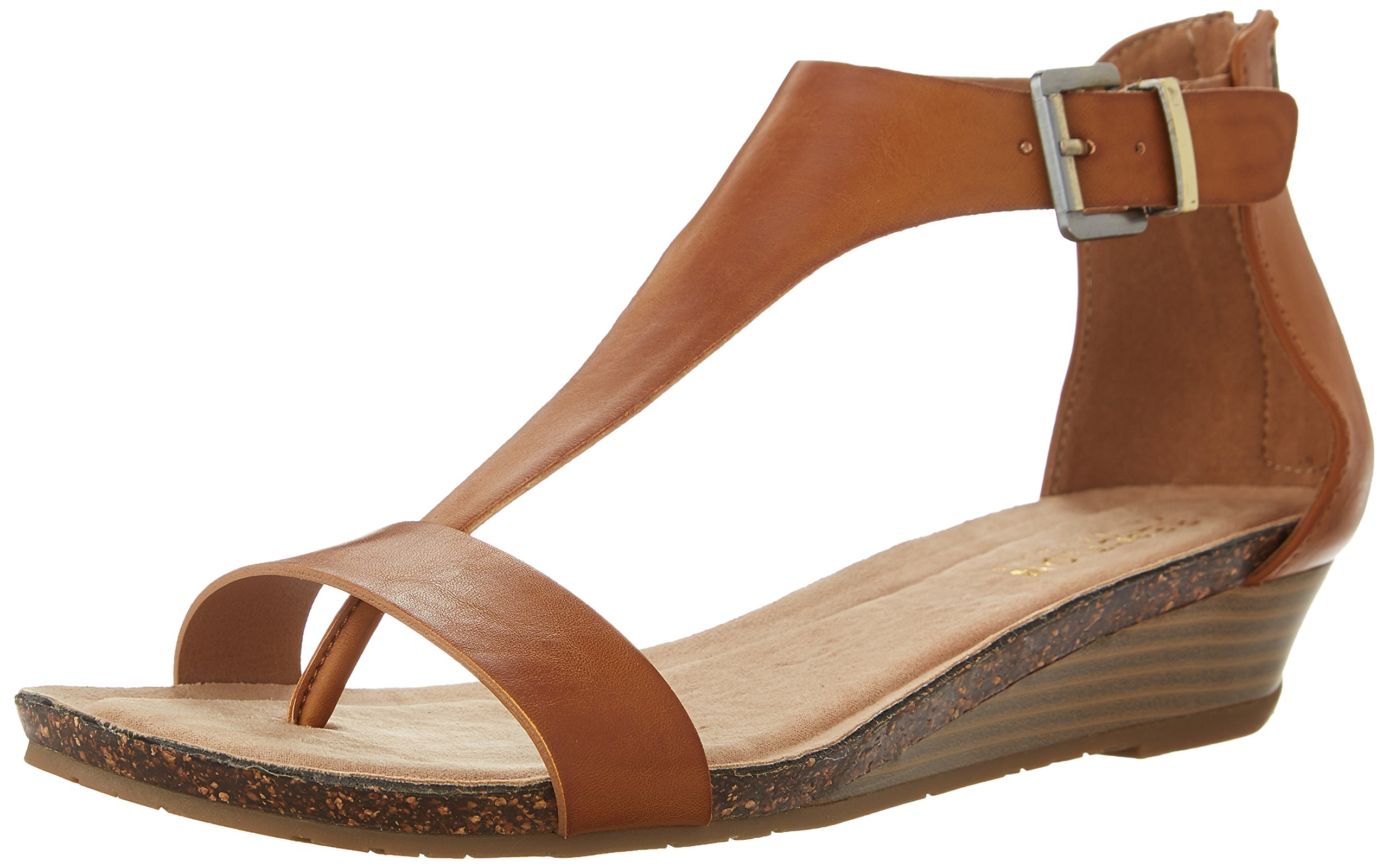 Kenneth Cole REACTION Women's Great GAL Sandal, Toffee, 6.5 M US