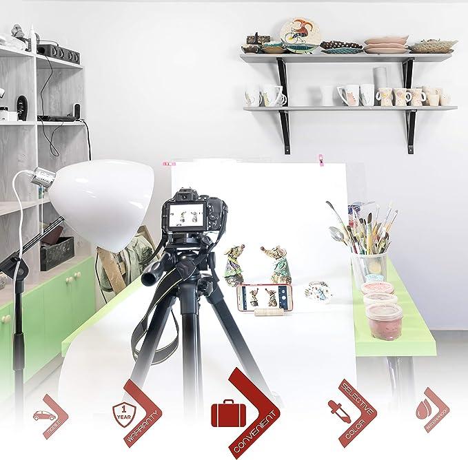 Xsmart Produktfotografie Pvc Hintergrund 3er Set Studio Kamera
