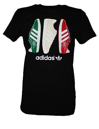 Adidas Originals Herren T-Shirt Country Samba Tee Shirt schwarz, Größe:XS