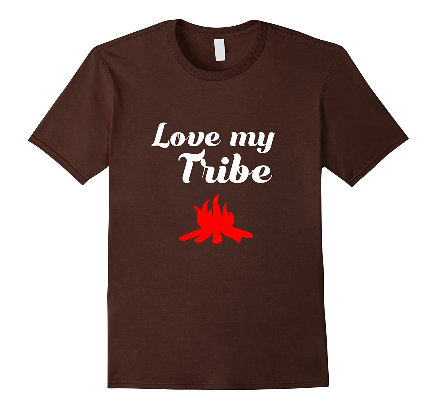 Cool Love My Tribe T-shirt with Fire Perfect Gift for Family-CD