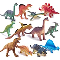 12-Pack Dinosaur Toys Figures Set with Carrying Case