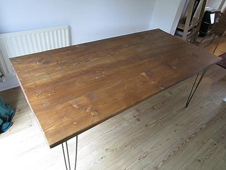 Tavolo Da Pranzo Shabby Chic : Tavolo da pranzo industriale forcina con gambe in legno