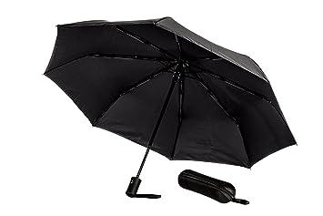 ROYALZ Regen Taschen Schirm Sturmfest Auf-Zu-Automatik Teflonbeschichtet schwarz