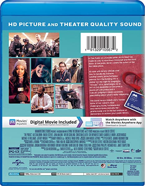 Amazon com: The Public [Blu-ray]: Alec Baldwin, Emilio