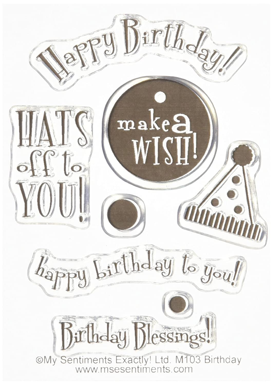 【在庫有】 MSE Birthday My by Sentiments 3 Stamps Sheet, 3 by Birthday 4, Clear by MES B00RAVK7ZK, 鴨川市:d34e7465 --- mvd.ee