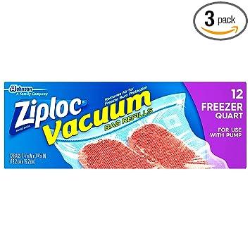 Amazon.com: Ziploc bolsas de repuesto aspiradora (paquete de ...
