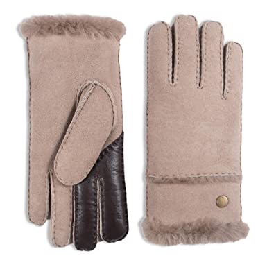 6bc4e21d6 YISEVEN Women's Merino Sheepskin Shearling Leather Gloves Mittens Sherpa  Fur Cuff Thick Wool Lined and Heated