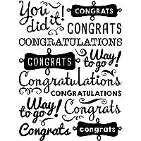 Darice 30041359 - Carpeta para grabado en relieve, frases de felicitación, 10,79 x 14,60 cm