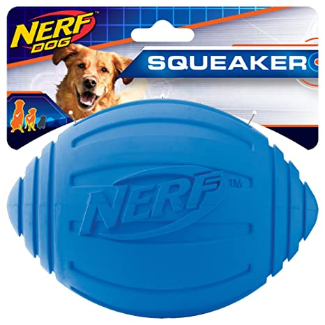 Nerf Dog Ridged Squeaker - Balón de fútbol: Amazon.es: Productos ...