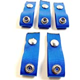 5 Piece Set Adds 4 Inches Snap Extenders for Your Boat Cover Finger Loop Built in Extend A Snap Navy Blue