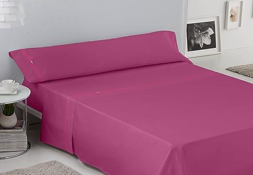 ES-TELA - Juego de sábanas LISOS BIÉS color Fucsia (3 piezas ...