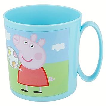 Bleu FUN HOUSE 005174 Peppa Pig Mug pour Enfant Polypropylene 10,5 x 8,2 x 8,7 cm