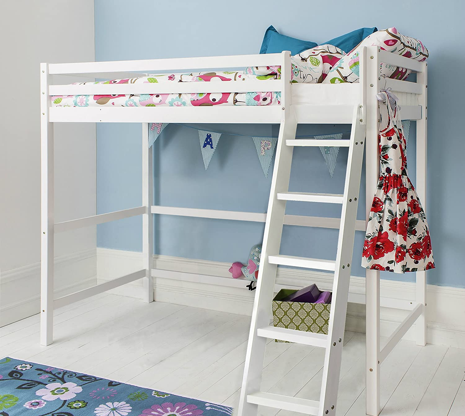Noa And Nani Texas High Sleeper Kids Cabin Bed White