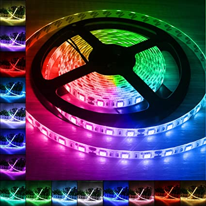 Amazon b2ocled 12v dc flexible led strip lights 164ft5m led b2ocled 12v dc flexible led strip lights 164ft5m led light strips aloadofball Gallery