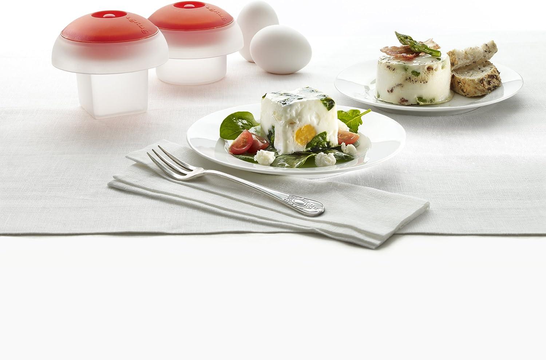 Lékué Kit Ovo - Kit de 2 cuece Huevos, uno cilíndrico y uno cúbico ...