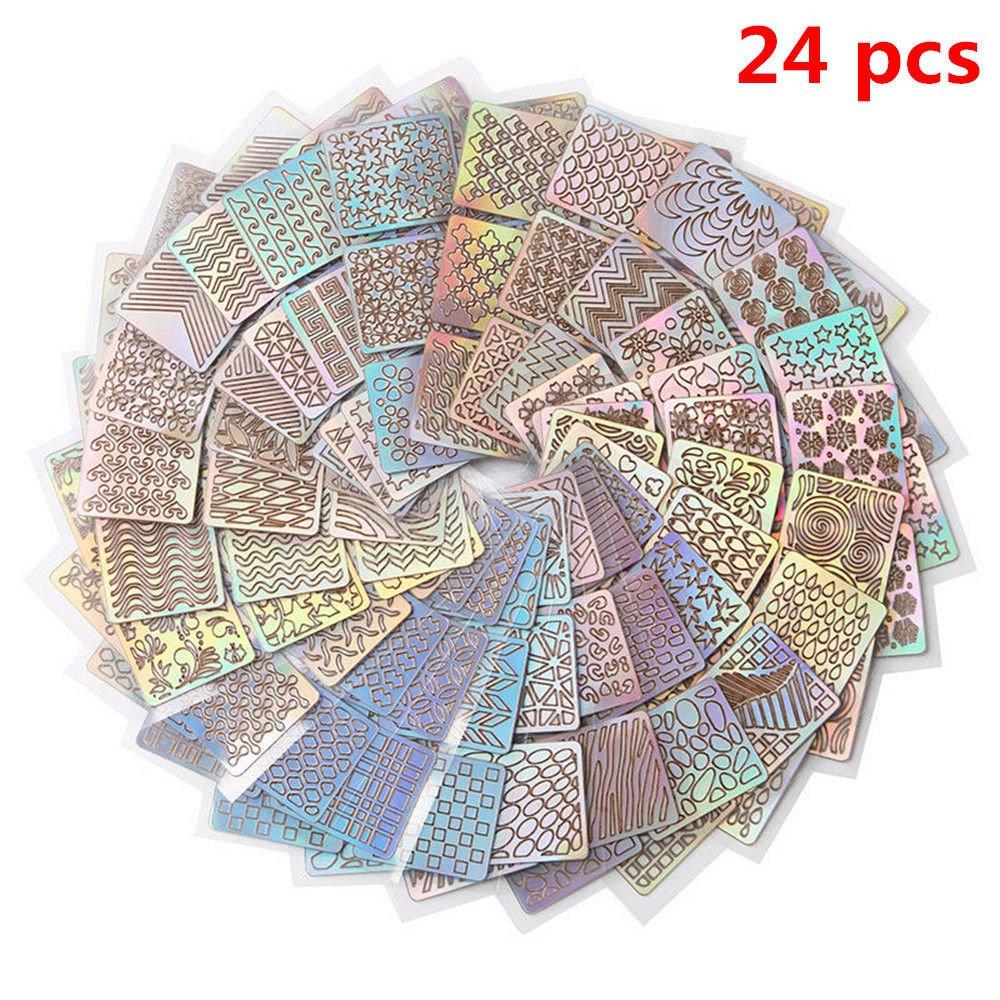 DDWShop(TM) 24 Sheet Nail Art Transfer Stickers Decal 3D Manicure Tips DIY Decoration Tool U
