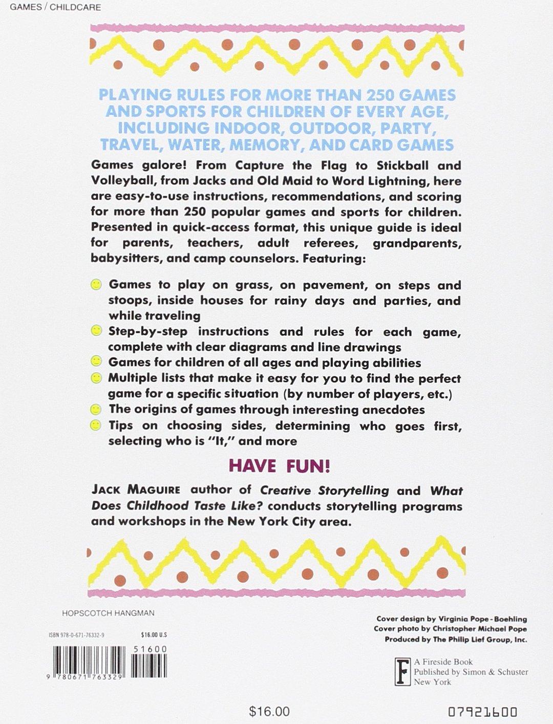 Hopscotch, Hangman, Hot Potato, & Ha Ha Ha: A Rulebook of Children's Games:  Jack McGuire: 9780671763329: Amazon.com: Books