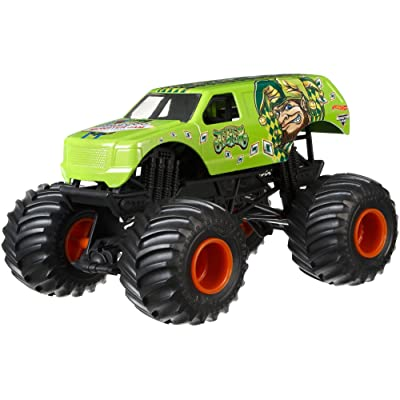 Hot Wheels Monster Jam Jester Vehicle, Green: Toys & Games