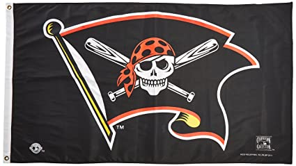 amazon com mlb pittsburgh pirates jolly roger cooperstown banner