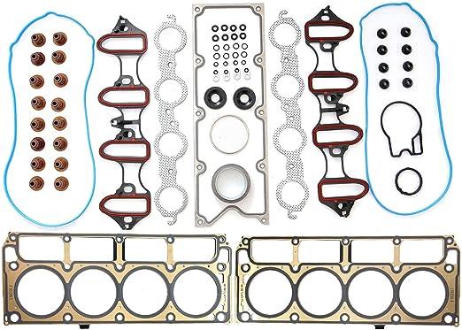 Vincos MLS Full Cylinder Engine Gasket Set Compatible with chevy silverado tahoe gmc sierra 1500 yukon envoy buick trailblazer 4.8L 5.3L V8