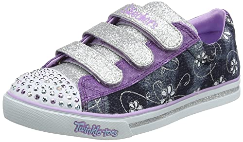 Skechers Sparkle Glitz-Denim Daisy, Zapatillas para Niñas: Amazon.es: Zapatos y complementos