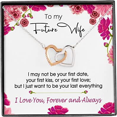 My Fiance Necklace Gift Future Wifey Gifts Birthday gift Future Wife Necklace Gift To My future wife Valentine My future wife necklace