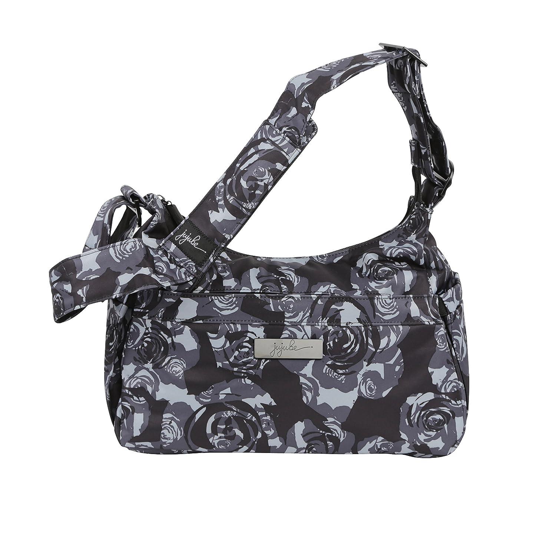 Ju-Ju-Be Onyx Collection HoboBe Purse Diaper Bag, Black Petals 15HB01X BPT