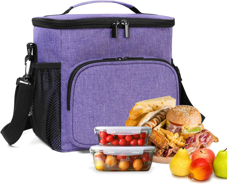 Yarwo K/ühltasche f/ür Damen Studentin Grau Picknicktasche f/ür Mittagessen Transport Arbeit Picknick Lunchtasche Mittagessen Tasche f/ür Jungen Kinder