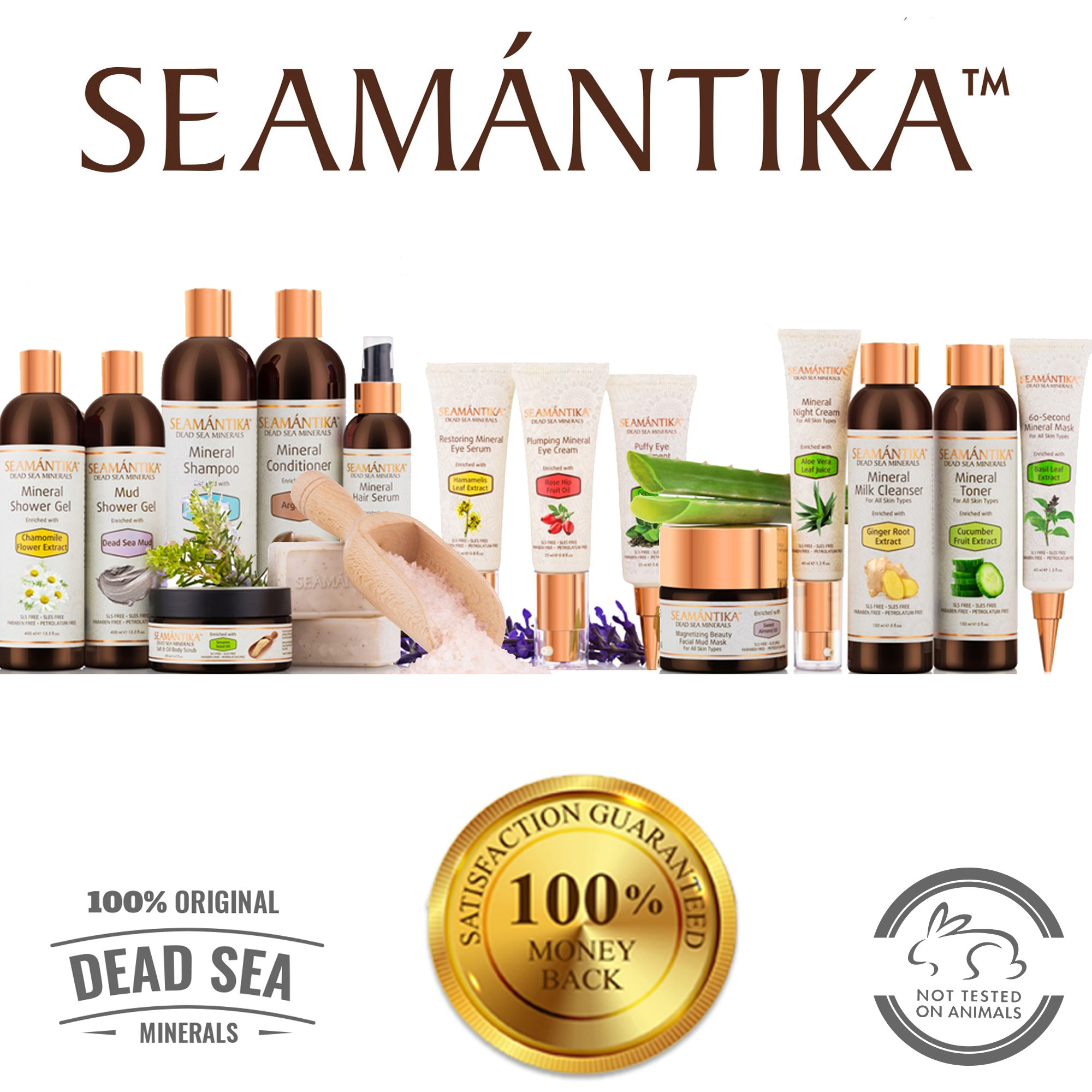 Puffy Eye Treatment Instant results – Naturally Eliminate Wrinkles, Puffiness, Dark Circle and Bags in Minutes – Hydrating Eye Cream w/Green Tea Extract, Dead Sea Minerals by SEAMANTIKA – .8 oz by SEAMANTIKA (Image #8)