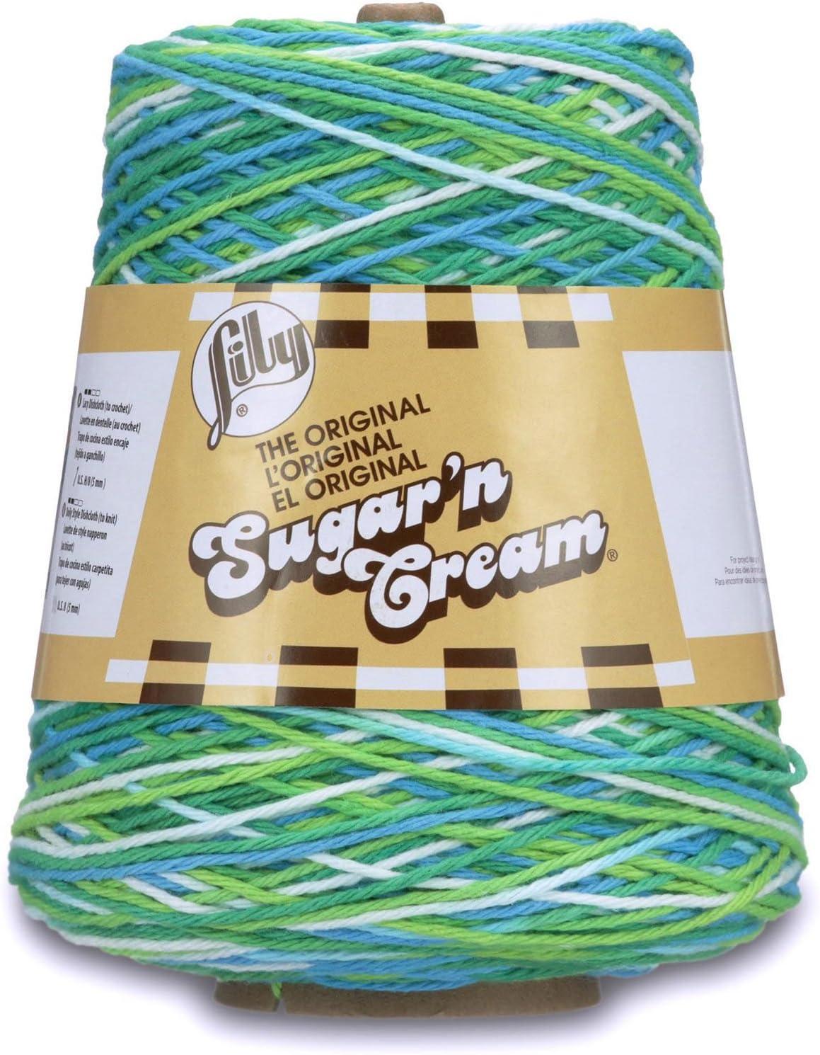 Lily Sugar'n Cream Cotton Cone Yarn, 14 oz, Potpourri , 1 Cone