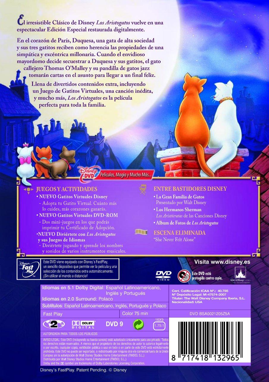 Amazon.com: Los Aristogatos - Edición Especial (Import Movie) (European Format - Zone 2) (2008) Personajes Animados; Va: Movies & TV