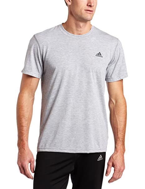 7623fe956 Amazon.com: adidas Men's Climagamer Tee, Medium Grey Heather/Dark Shale,  Small: Clothing