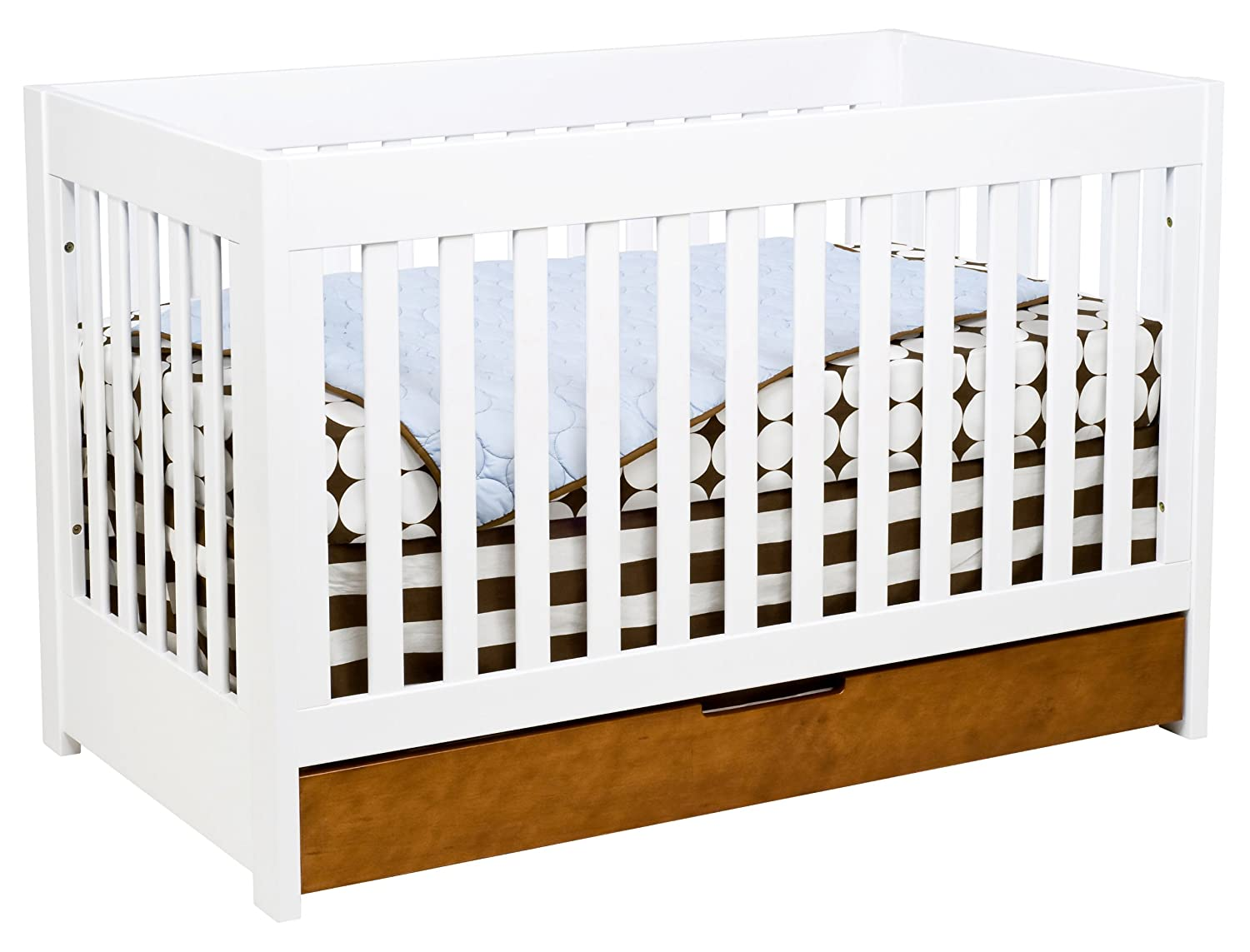 amazoncom baby mod - baby mod parklane in convertible crib with toddler rail amber and white