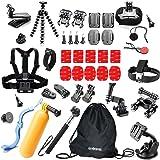 Greleaves Action Camera Mounts Accessories for Gopro Hero 6 Go Pro HERO 5 4 3 2 1 & Session SJCAM SJ4000 SJ5000 Xiaomi Yi Vivitar Apeman A80 AKASO EK7000 Vemont Bundle Pack Set