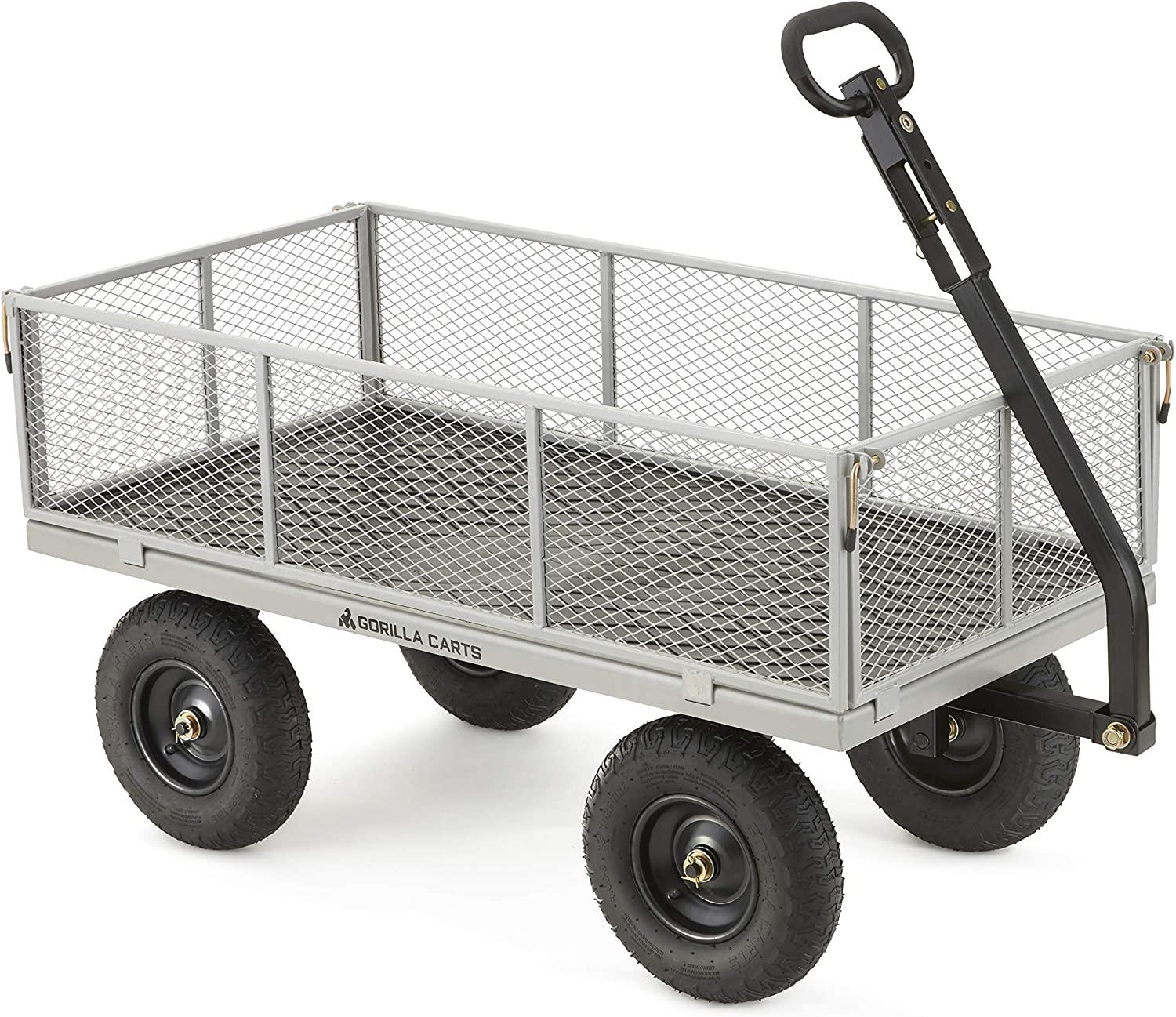 Gorilla Carts Heavy-Duty Steel Utility Cart with Removable Sides
