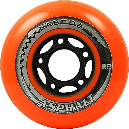 Labeda Gripper 80mm Soft Inline Rollerblade Skating Hockey Wheels 4 Pack