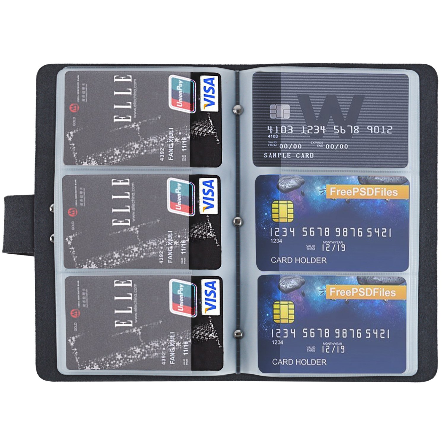 LEXCAR Genuine Leather Credit Card Holder Book Business ID Card