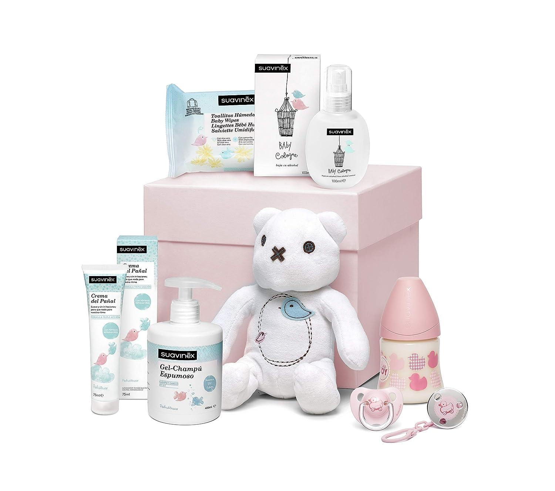 Suavinex Canastilla Reci/én Nacido Regalo Beb/é 0-6 meses Rosa