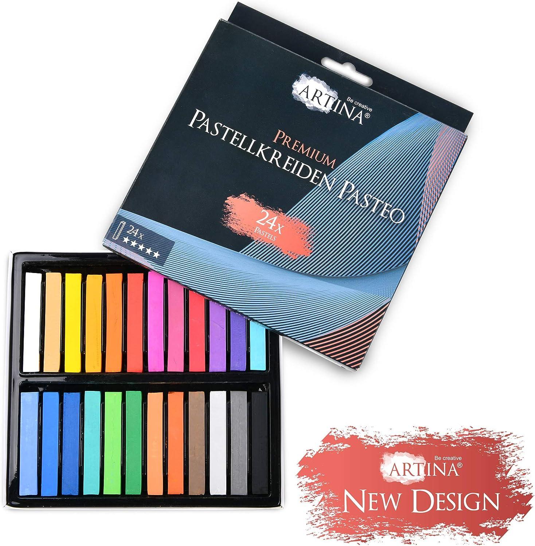 Calidad de Estudio Set de 12 Colores con Caja Tiza Pastel al /óleo Artina Pasteo Master Series Soft Pastel
