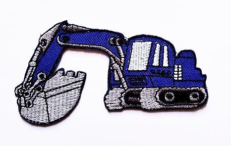 Azul excavadora excavadora tractor Loader trackhoe Bulldozer ...