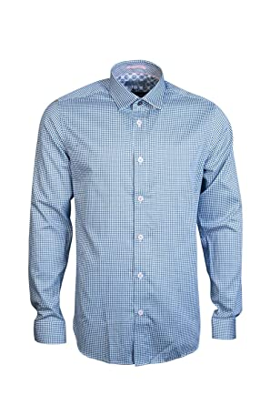 Camisa Baker Para Casual - Azul Hombre Xxx-large Ted