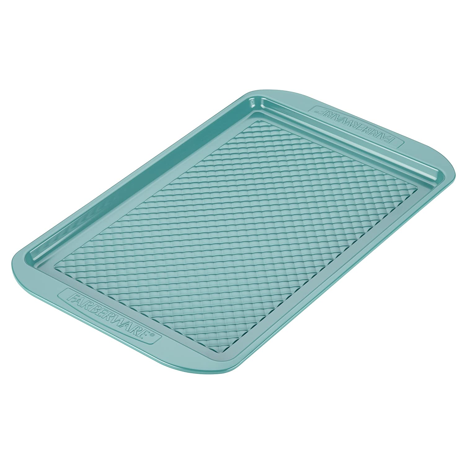 Farberware purECOok Hybrid Ceramic Nonstick Bakeware Baking Sheet & Cookie Pan, 10-Inch x 15-Inch, Aqua 46327